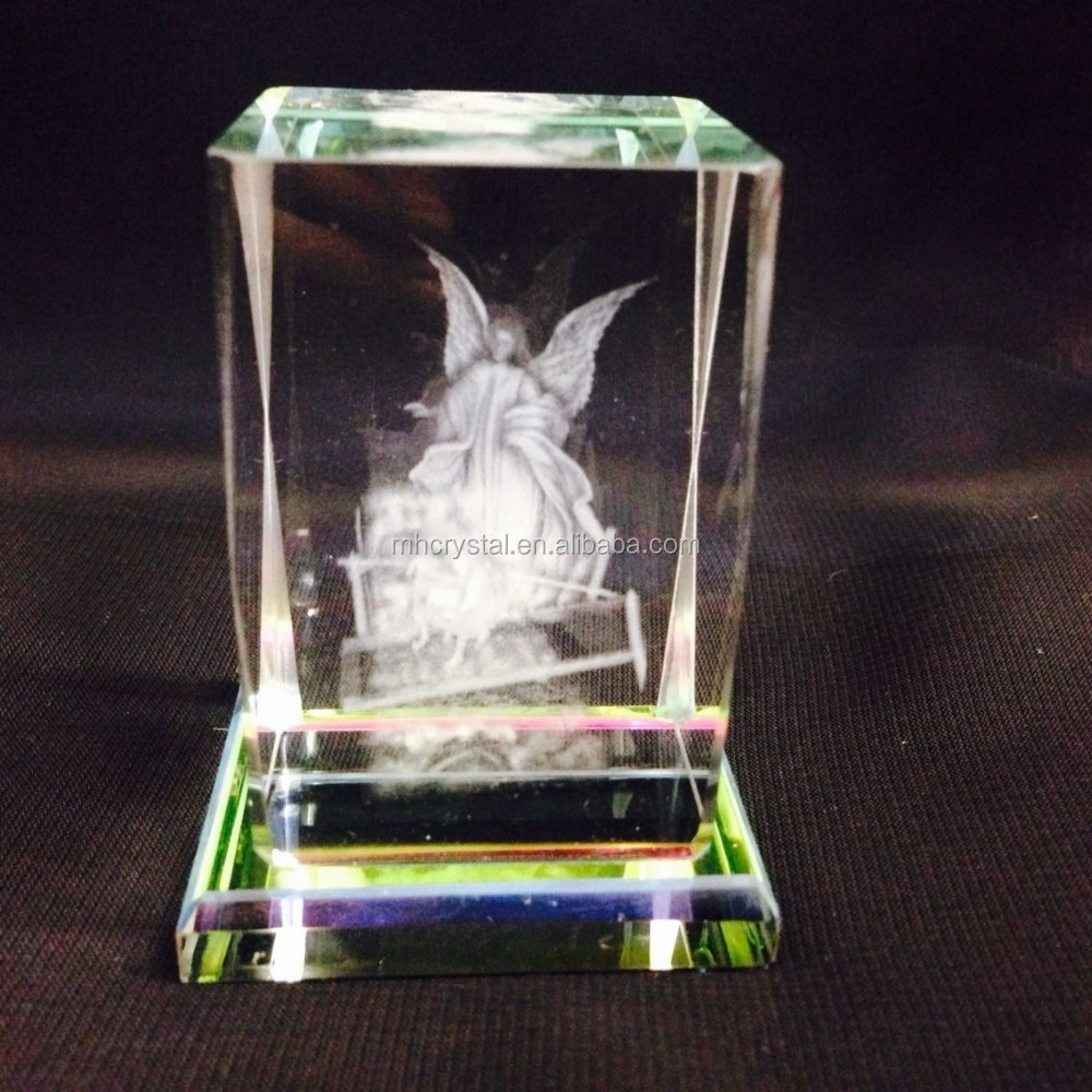 Clear Glass Cube Paperweight