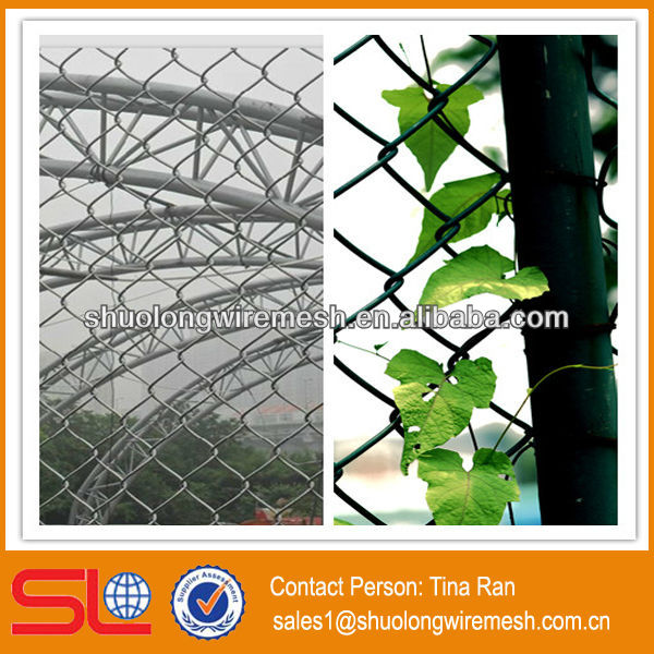Hebei 50x50cm powder coated chain link fence/chain link perimeter fence designs