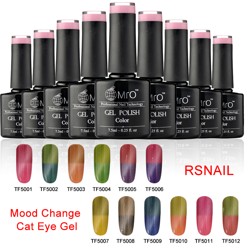 mood change cat eye <strong>gel</strong> 12 colors UV <strong>gel</strong> nail polish kit