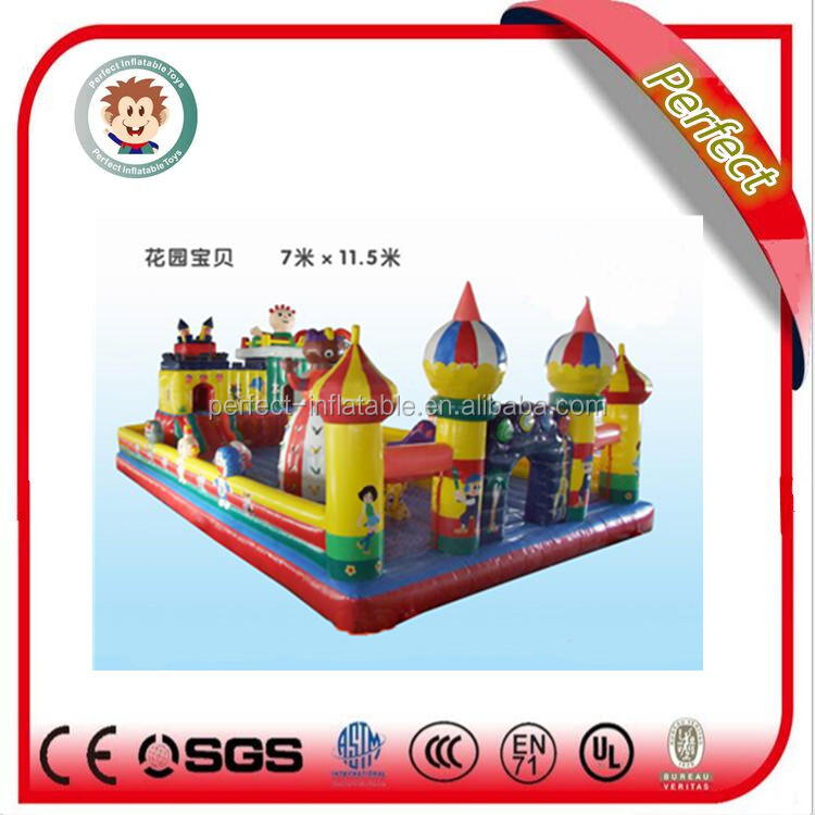 Top quality air bouncer inflatable trampoline, inflatable princess bouncy castle for children