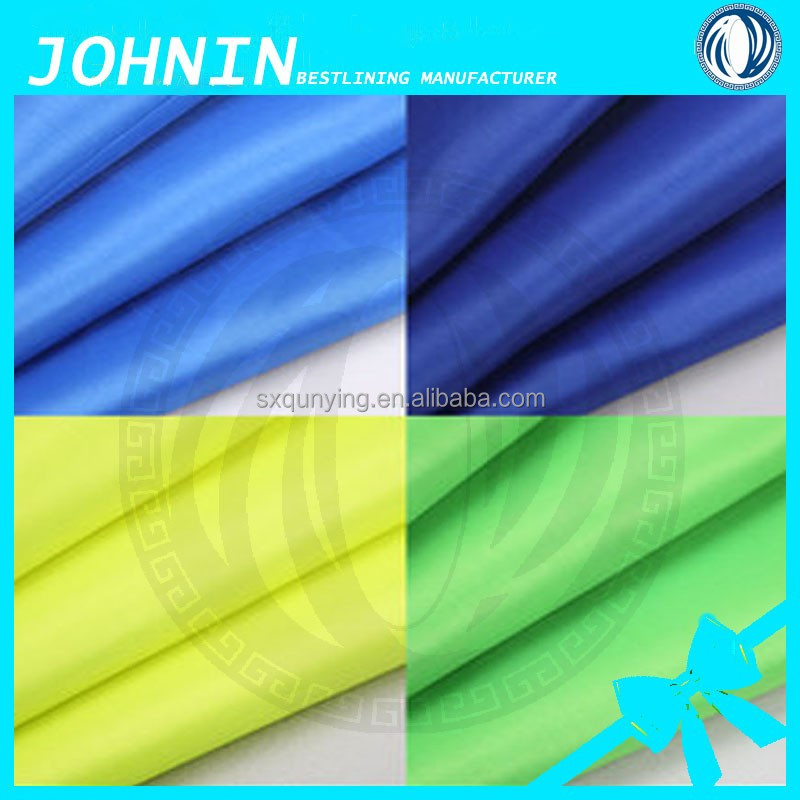 High density 240T polyester pongee 240T PU Milky coating Coated Polyester Pongee Fabric