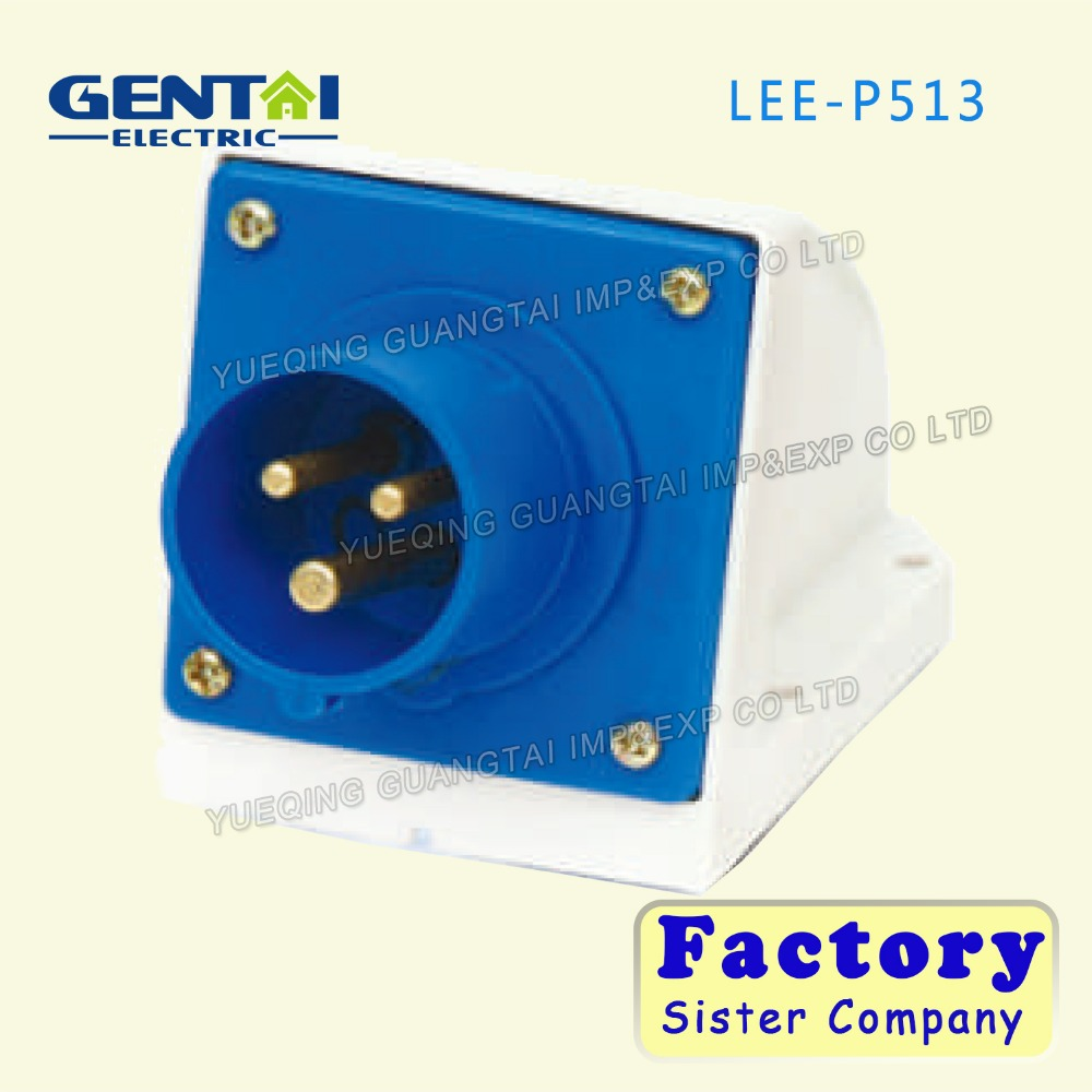 Hot sale Electronic 16A/32A 220V~250V 2P+E IP44 industrial plug and socket