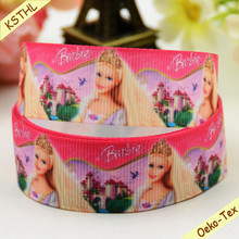 Printed Cartoon Character Grosgrain Ribbon For Hair And Plush Toys