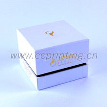 White color Cardboard Cosmetic box with divider for Jars