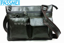 Men's Fashion Causal Genuine Leather Shoulder Bags Real Leather Messenger Bags