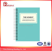 Main product special design cheap blank cover spiral notebook