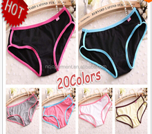 Customized New Brand New Sexy Calcinha Female Candy Color Casual Women Cotton Underwear Panties Women's Butt Lifter Sport briefs