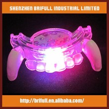 Soft PVC led flashing mouth piece
