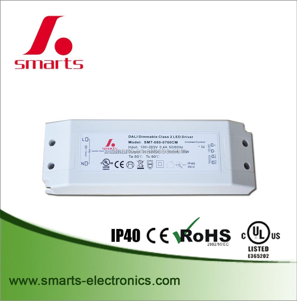 110VAC DALI dimmable constant current led driver 500ma ce UL Listed dimmable led driver