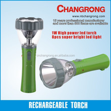 Rechargeable led battery two round pin lamp torch flashlight night light