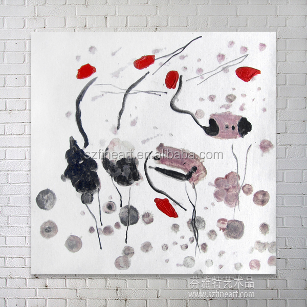 Hand made crane abstract decorative painting