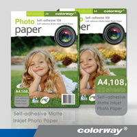 Best selling inkjet matte coated photo paper with self adhesive back