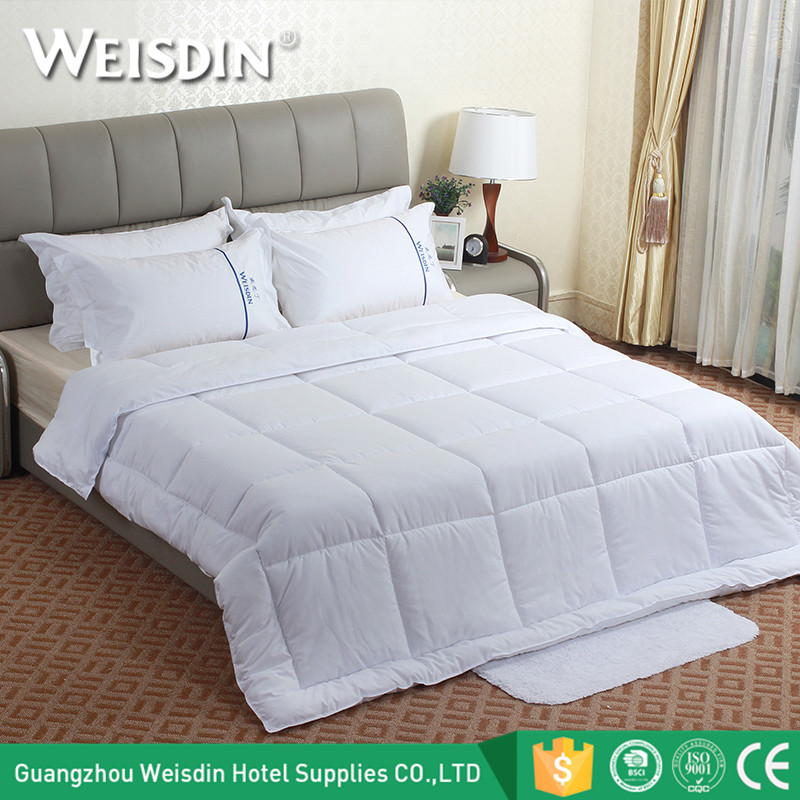 Wholesale bed linen 450gsm feather velvet white luxury hotel king size bed comforters