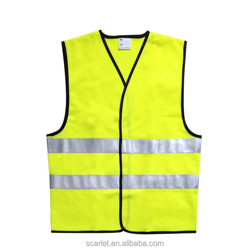Hot sale Yellow 3M Oxford Hi Vis Safety Vest/ Reflective Jacket with Pocket