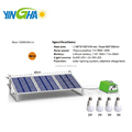 Lithium Battery - 30W Panel Solar Home System Kit - including Cell Phone Charger - 4 LED Lights 10W 1100 lumens (YH1003)