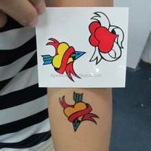 Smart candy tattoo in temporary tattoo with non-toxic