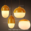 led bulb light Restoration hardware stage lamp wood iron and glass pendant lighting