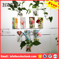 Wall hanging promotion gift silicone sticker plastic pencil vase