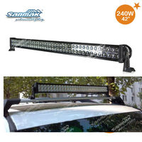 "PMMA lens Epistar chip 240w led light bar 42"" high power auto off road led light bar sm6021-240"