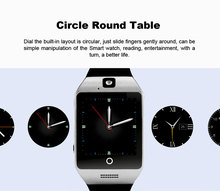 Mobie phone watch Smart Watch Q18 Hand-free Wristwatch Bluetooth Smart Watches Clock Man Watch