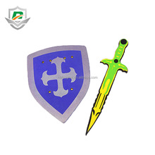 2018 new style cheap weapon custom eva kids educational toys security foam high quality sword and shield play set