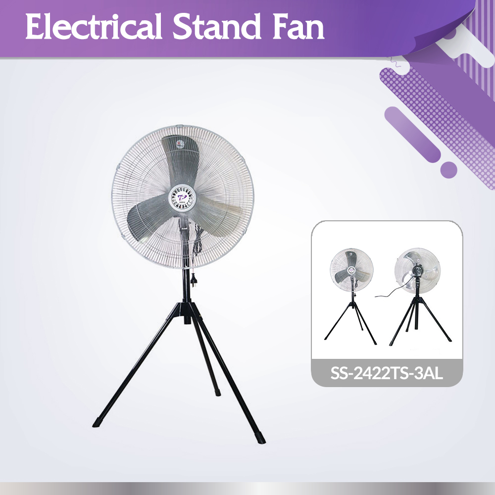 High quality long life time SS-2422TS-3AL large air flow outdoor stand fan