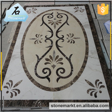 Colorful custom designed Hotel rectangle marble water jet floor medallion pattern