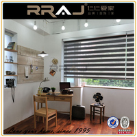 electric zebra lace window roller blinds