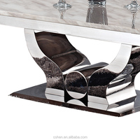 High quality coffee center table with thick stainless steel frame