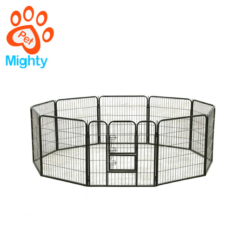 Trade Assurance Hot Sale Large Space Square Steel Iron Pet Enclosure Folding Modular Dog Cage