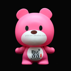 Printed logo make your own cartoon character vinyl bear toy