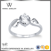 Fashion heart rings jewelry women 925 silver rings wedding rings for female-RC0529192900