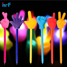 Funky kids hand gesture Pen/ light up pen for gift