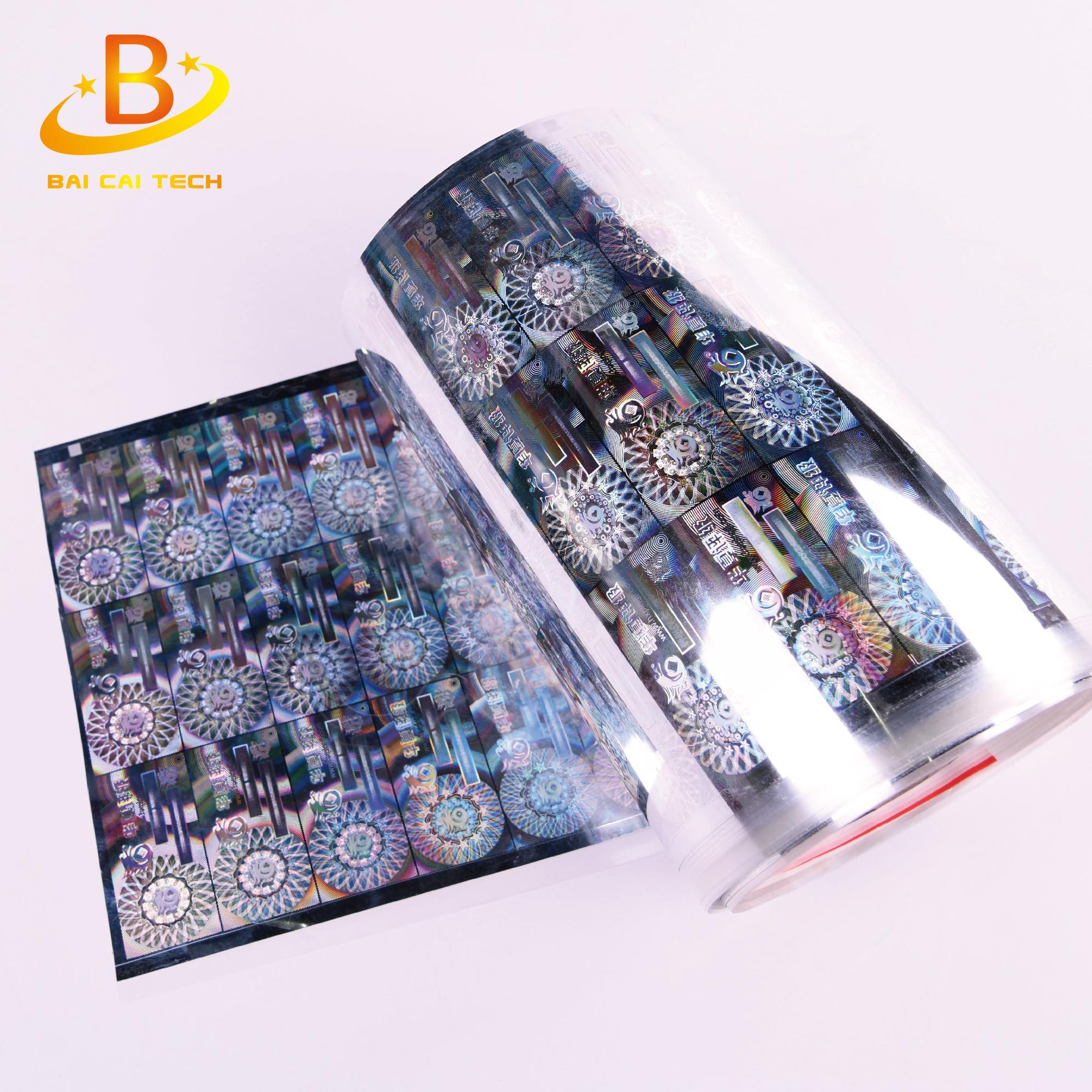 2018 Top quality best price full color custom hologram 10ml vial label maker