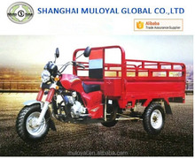 Petrol Cargo Tricycle 250cc Open Cabin Trike Water Cooling Tricycle Made in China