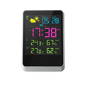 Multifunction Calendard Temperature Themes Clock With Blue Backlight