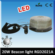 Super bright 20w Available colors blue/ yellow/ red/ white/ green warning beacon led lighting with magnet and cigar plug