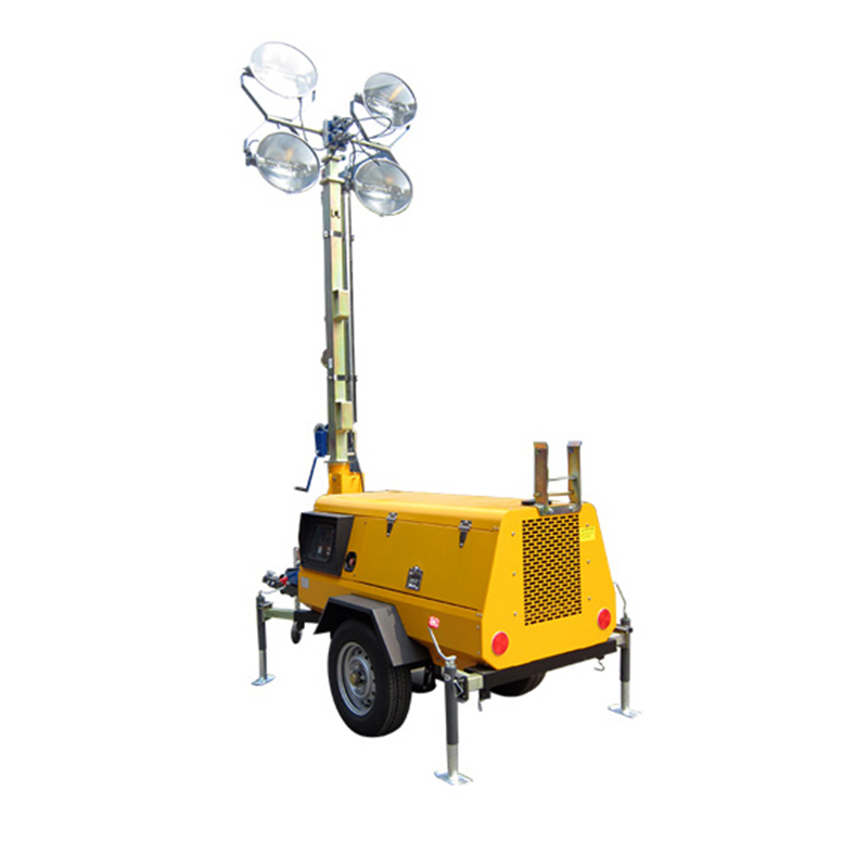High quality construction trailer light tower generator