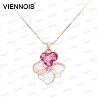 Fashion Rose Gold Chain Necklaces Heart Necklace