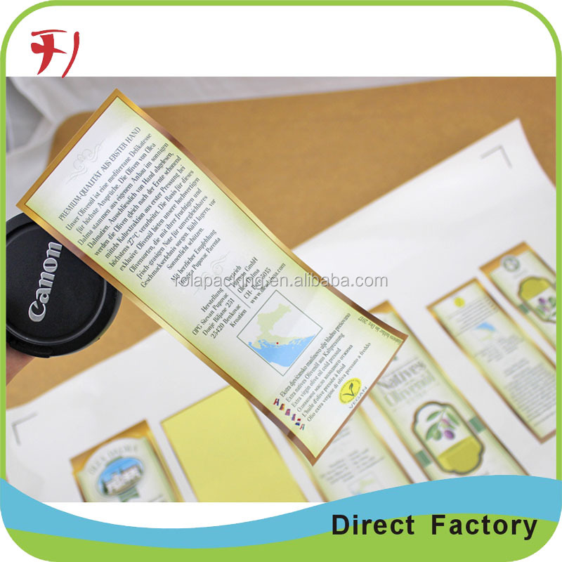 strong-adhesive food sticker ,cheap waterproof food labels stickers printing colorful