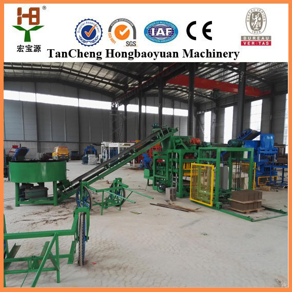 Investors looking for QTJ4-25 block brick making machine namibia for house plan in vietnam
