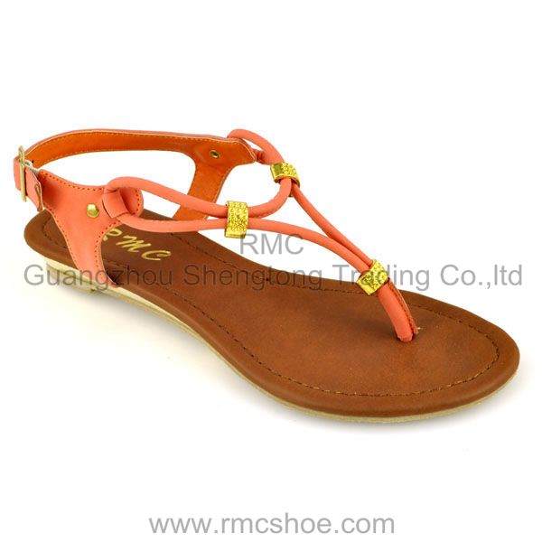 thong PU fashion lady summer shoes for women