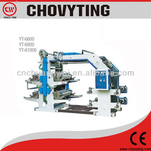6 color flexographic plastic printing machine