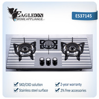 Enamelled gas stove 3 burner gas hobs with square iron support