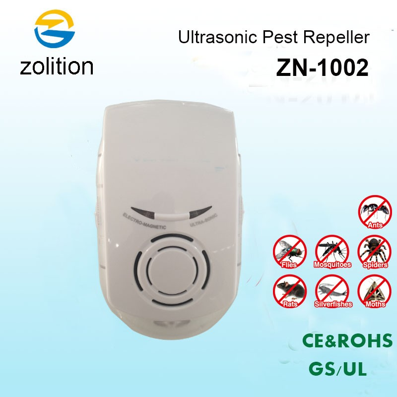 Zolition electronic ultrasonic pest repeller for mouse roach mosquito pest repeller us eu au plug ZN-1002