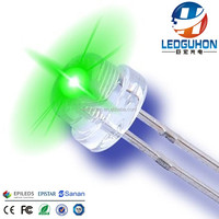 hot sell 4.8/5mm green color high brightness straw hat led diode