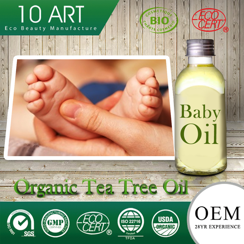 Mineral Oil Free Organic Pure Tea Tree Oil for Baby Massage Oil