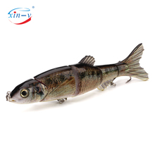 XIN-V multi fishing lure 5 sections hard swimbait multi jointed lfreshwater plastic live bait