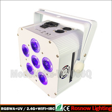 6x18w RGBWA UV 6in1 par led battery DMX512 controller for wedding wireless led uplighting rental