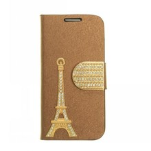 Hot Fashion Wallet Custom Made Phone Cases for Samsung Galaxy S4 Mini, Eiffel Tower Flip Leather Case for S4 Mini